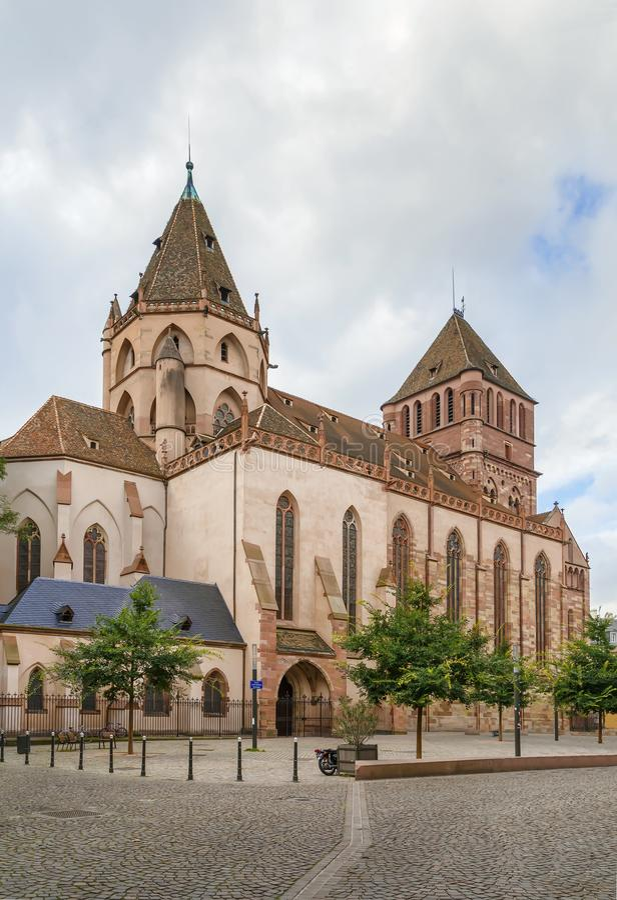 Igreja de St Thomas, Strasbourg imagem de stock royalty free