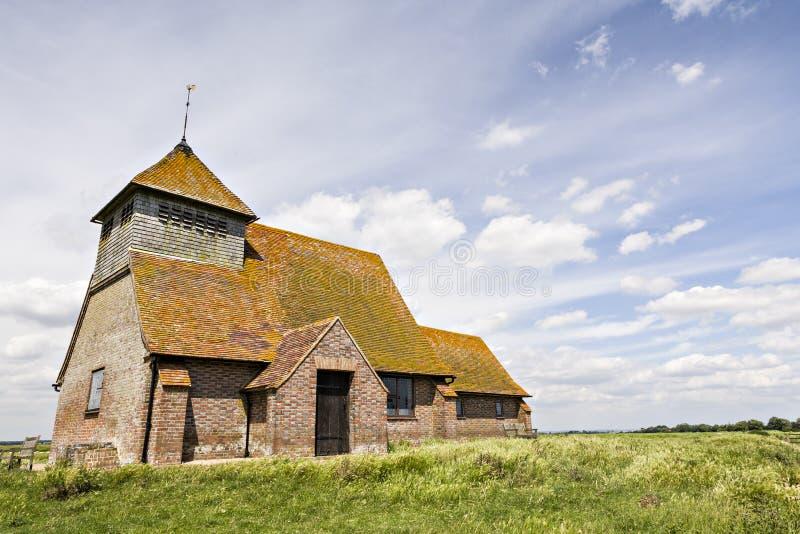 Igreja de St Thomas um nó de escota, Fairfield, Romney Marsh, Kent foto de stock