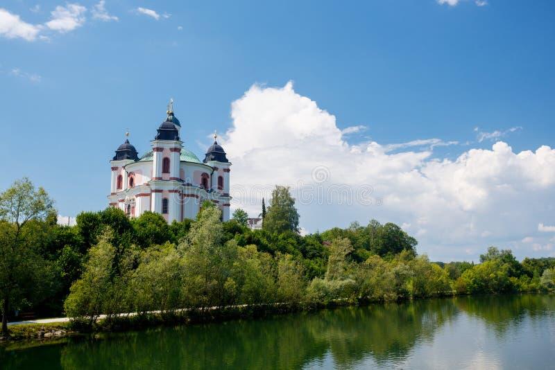 Igreja de Stadl Paura em Lambach fotos de stock royalty free