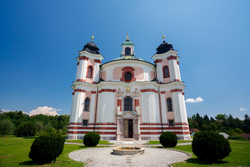 Igreja de Stadl Paura Lambach, Áustria foto de stock