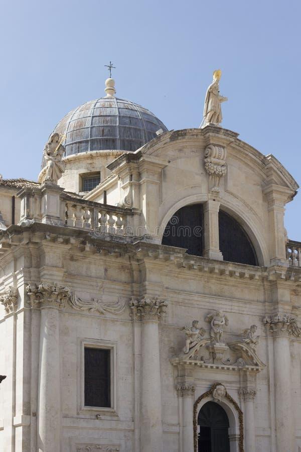 Igreja de StBlasius na cidade velha de Dubrovnik, Croácia foto de stock