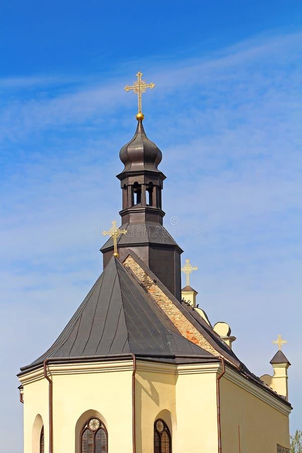 Igreja de StNicholas no castelo de Medzhybizh, Ucrânia imagens de stock