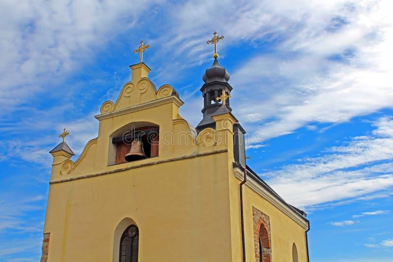 Igreja de StNicholas no castelo de Medzhybizh, Ucrânia imagens de stock royalty free