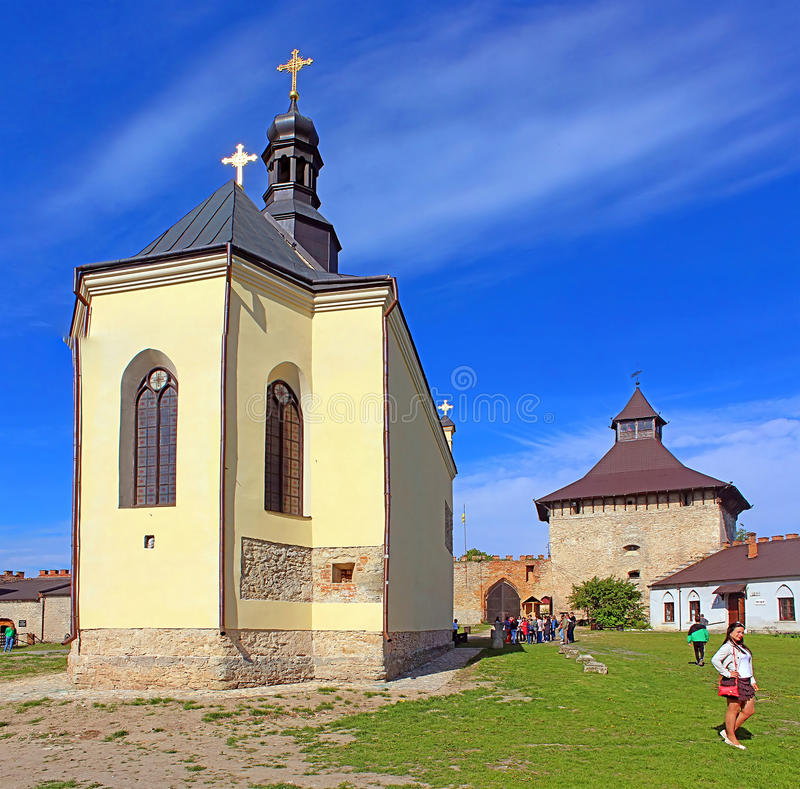Igreja de StNicholas no castelo de Medzhybizh, Ucrânia fotografia de stock