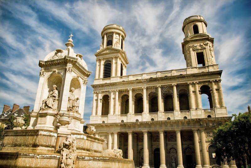 Igreja de Sulpice de Saint, Paris, France foto de stock royalty free
