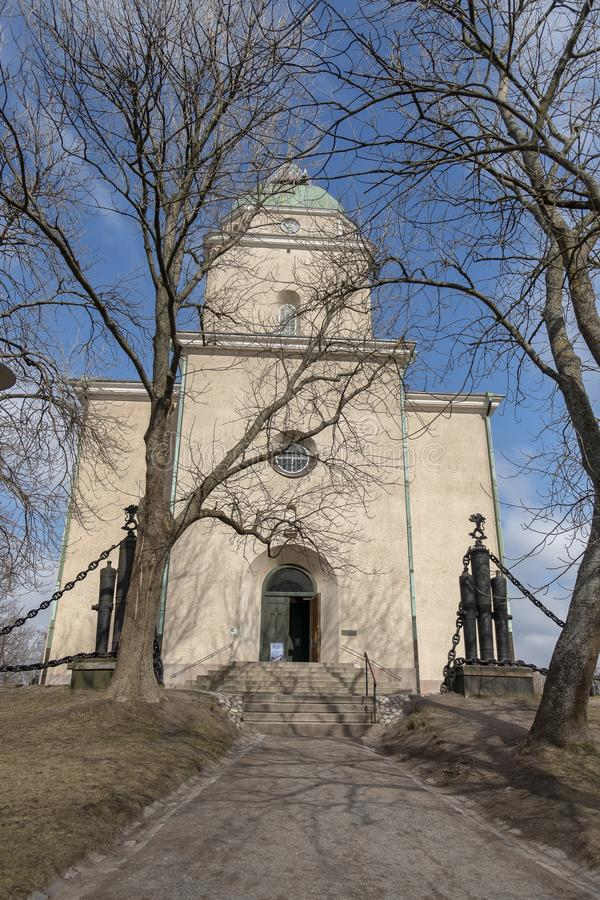 A igreja de Suomenlinna imagens de stock