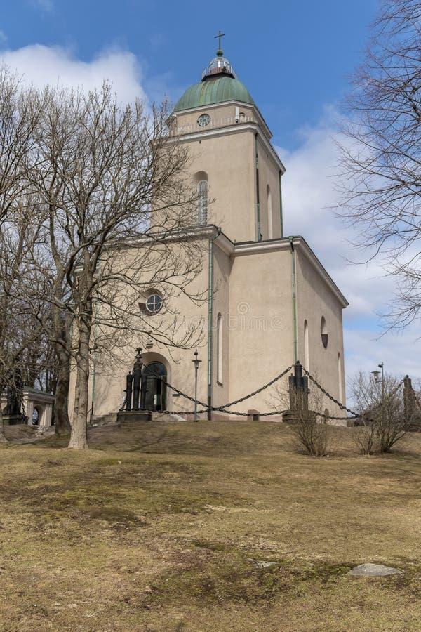 A igreja de Suomenlinna fotos de stock royalty free