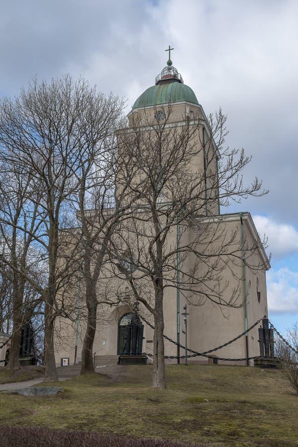A igreja de Suomenlinna fotografia de stock royalty free