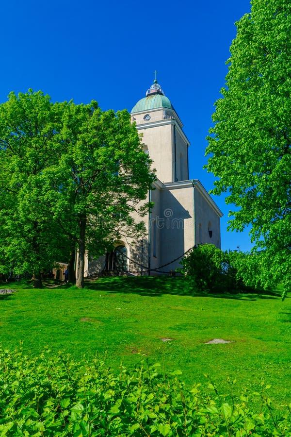 Igreja de Suomenlinna, na ilha de Suomenlinna, Helsínquia imagem de stock