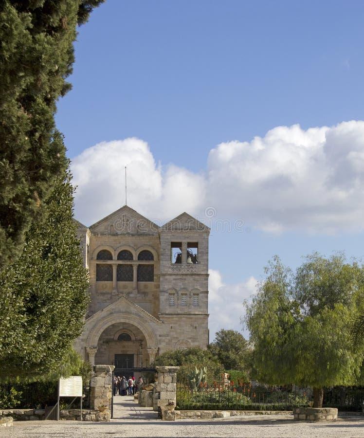 Igreja de Tabor da montagem do Transfiguration fotos de stock royalty free