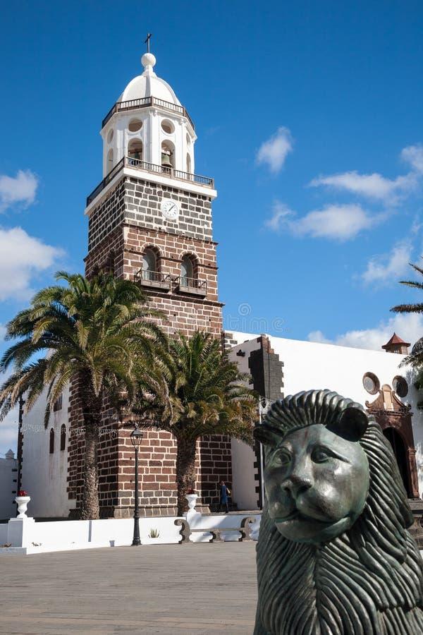 Igreja de Teguise, Lanzarote fotos de stock royalty free