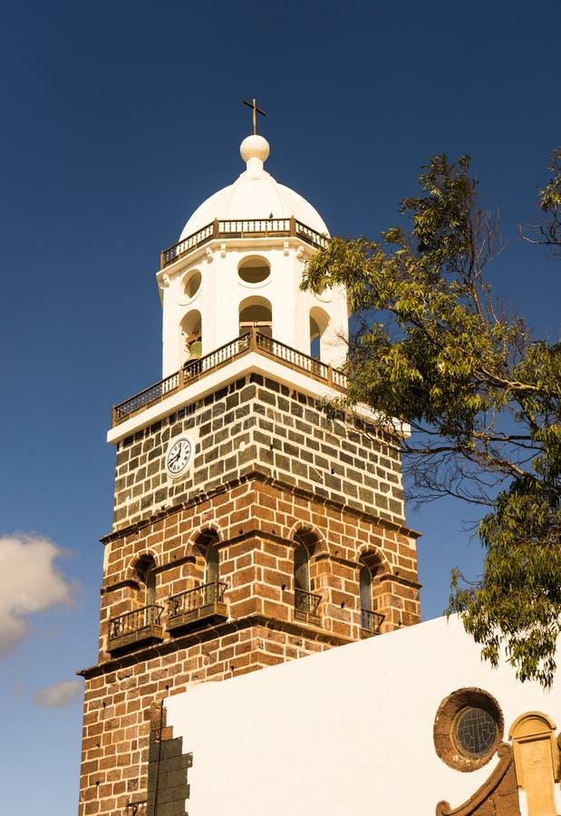 Igreja de Teguise na ilha de Lanzarote fotos de stock