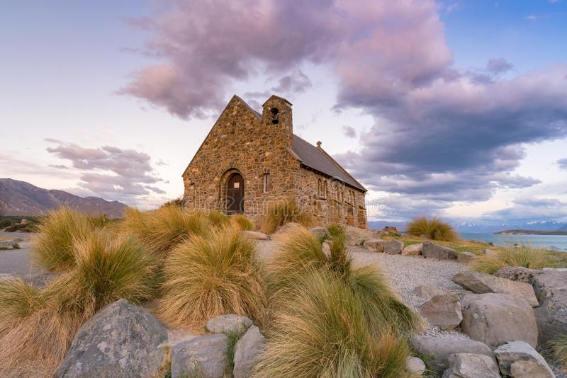 Igreja de Tekapo em Tekapo Nova Zelândia foto de stock