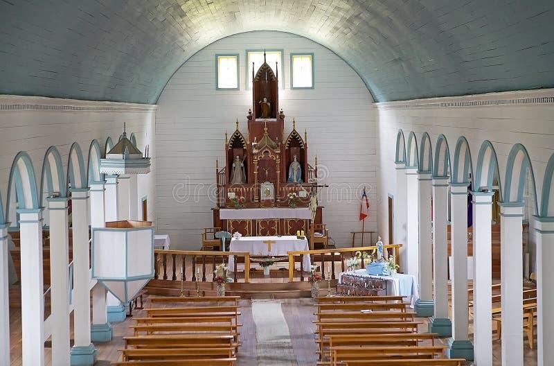 Igreja de Tenaun, ilha de Chiloe, o Chile imagem de stock royalty free