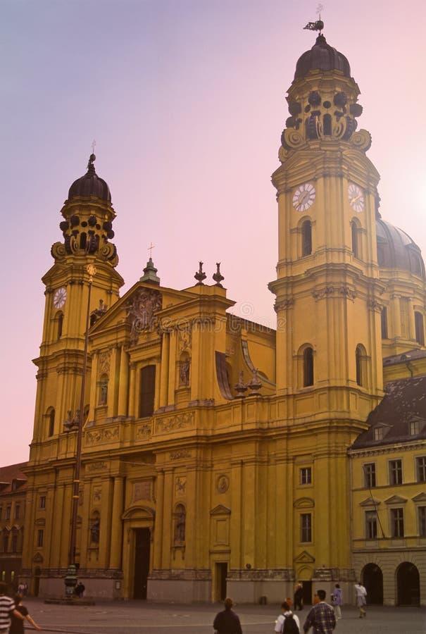 Igreja De Theatiener, Munich, Alemanha Fotos de Stock