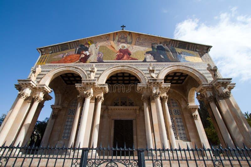 Igreja de todas as nações fotografia de stock