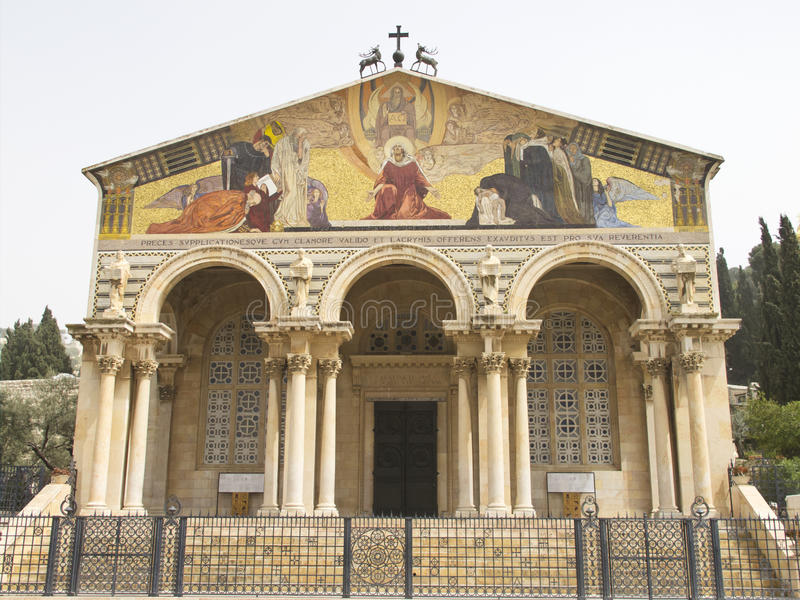 Igreja de todas as nações imagens de stock royalty free