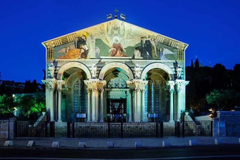 A igreja de todas as nações fotos de stock