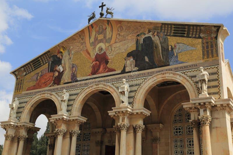 Igreja de todas as nações (basílica da agonia) foto de stock