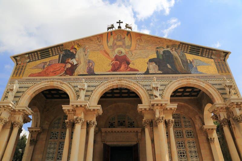 Igreja de todas as nações (basílica da agonia) fotografia de stock