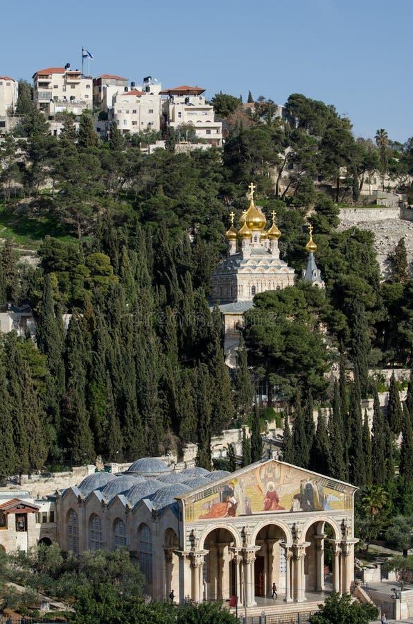 A igreja de todas as nações, e igreja de Mary Magdalene fotografia de stock