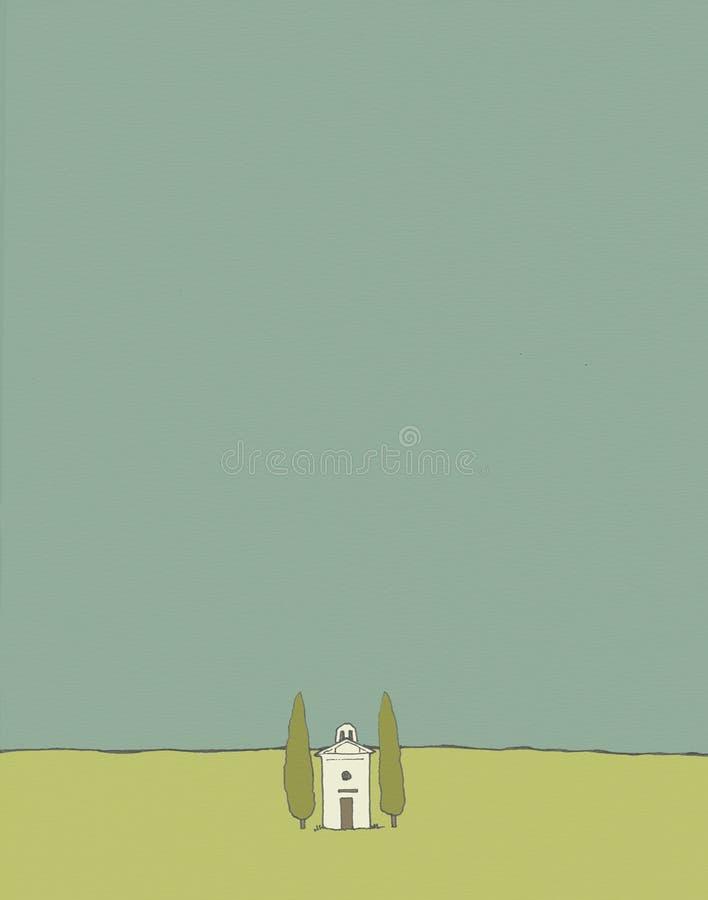 Igreja de Toscânia ilustração do vetor