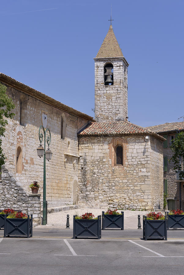 Igreja de Tourrettes-sur-Loup em França fotos de stock