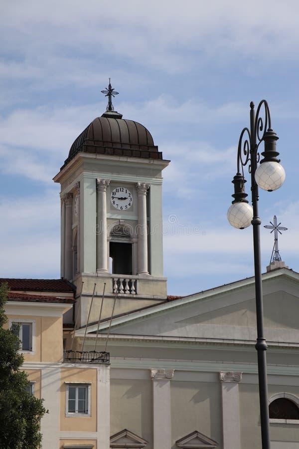 Igreja de Trieste em Italia foto de stock