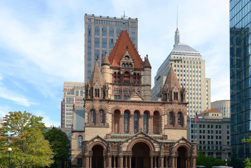 Igreja de trindade de Boston, EUA fotografia de stock
