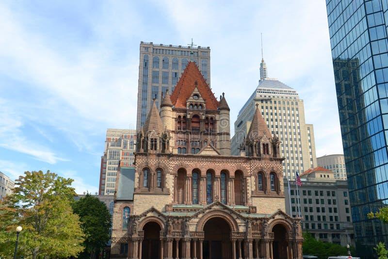 Igreja de trindade de Boston, EUA imagens de stock