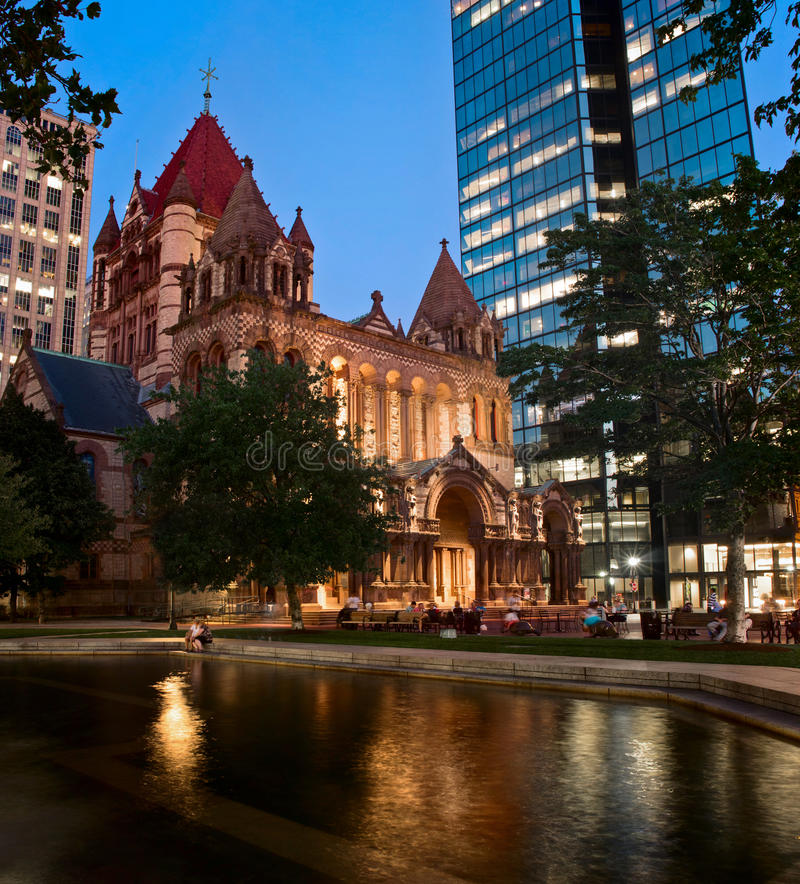 Igreja de trindade em Boston, EUA imagem de stock