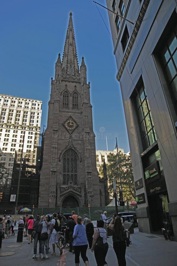 Igreja de trindade, New York City fotos de stock