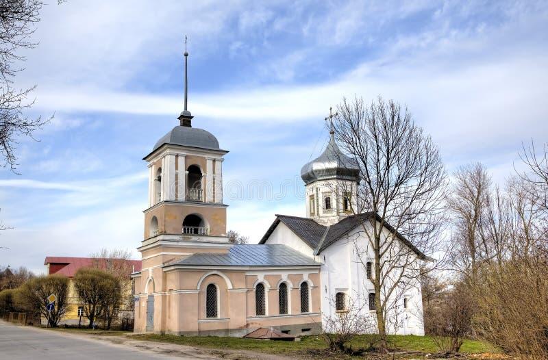 Igreja de trindade no Yamskaya Sloboda Veliky Novgorod imagem de stock royalty free