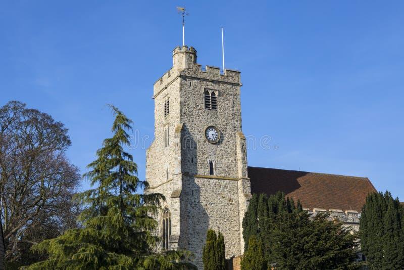 Igreja de trindade santamente em Rayleigh imagens de stock royalty free