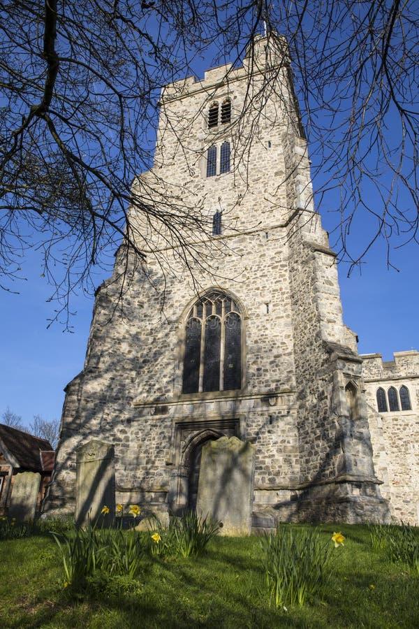Igreja de trindade santamente em Rayleigh fotos de stock