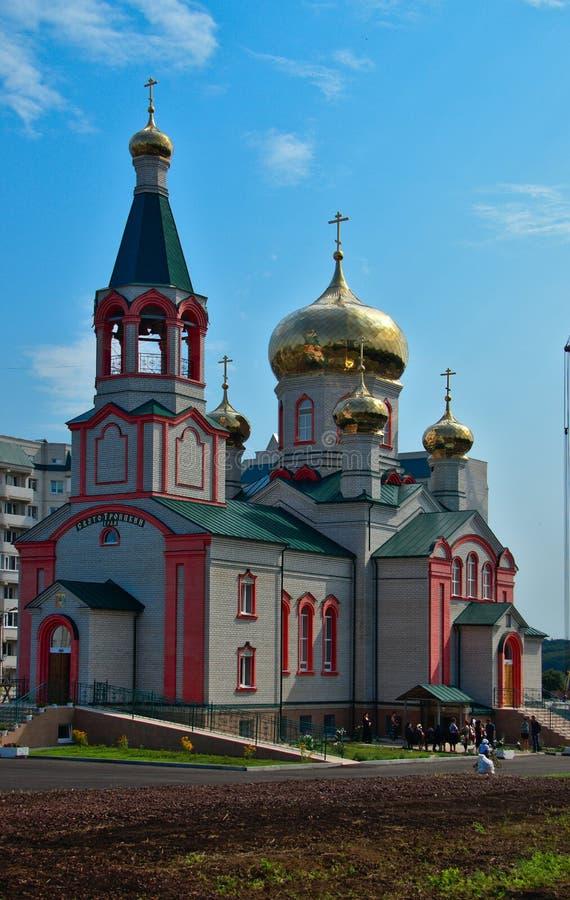 Igreja de trindade santamente em Zheleznogorsk, região de Kursk, Rússia imagem de stock
