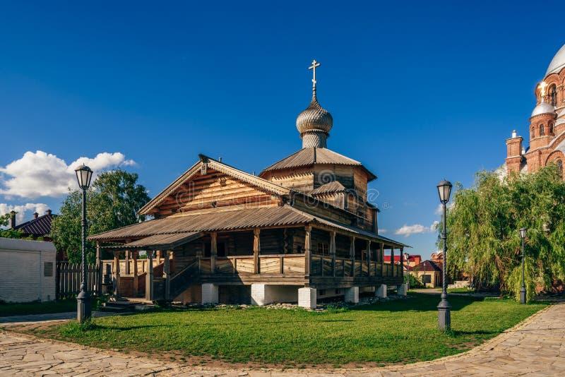Igreja de trindade santamente de John-Baptist Monastery foto de stock