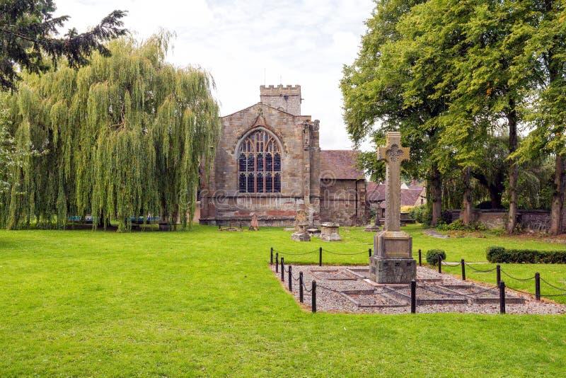 Igreja de trindade santamente, muito Wenlock, Shropshire imagens de stock