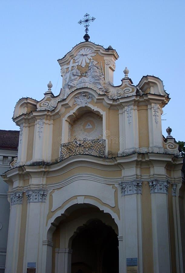 Igreja de trindade santamente & porta de Basilian fotografia de stock