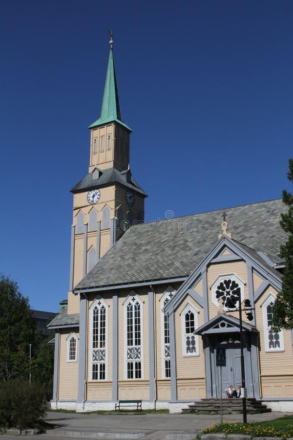 A igreja de Tromso, Noruega foto de stock