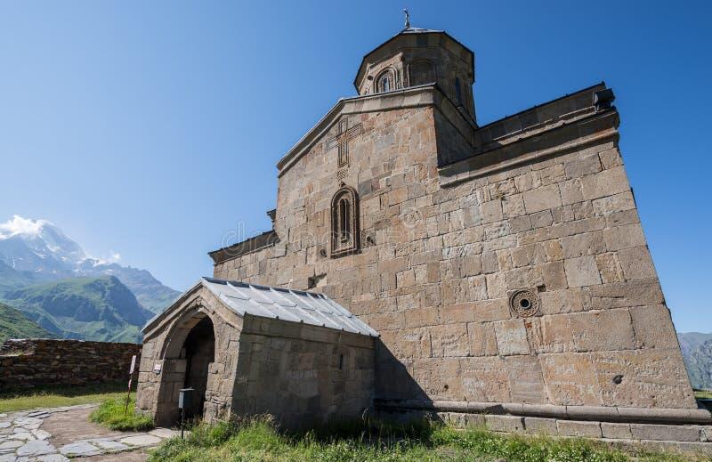 Igreja de Tsminda Sameba fotografia de stock