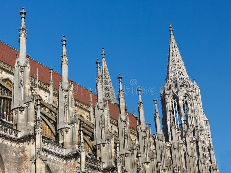 Igreja de Ulm (Ulmer Muenster), Alemanha fotos de stock royalty free