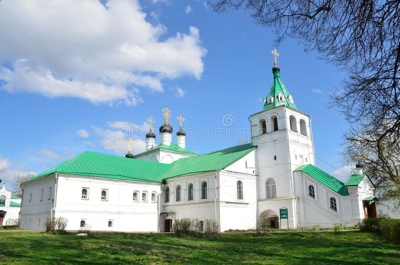 Igreja de Uspenskaya em Aleksandrovskaya Sloboda, regi?o de Vladimir, anel dourado de R?ssia imagem de stock