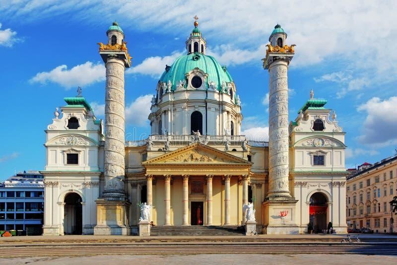 Igreja de Viena - de St Charles - Áustria imagem de stock royalty free