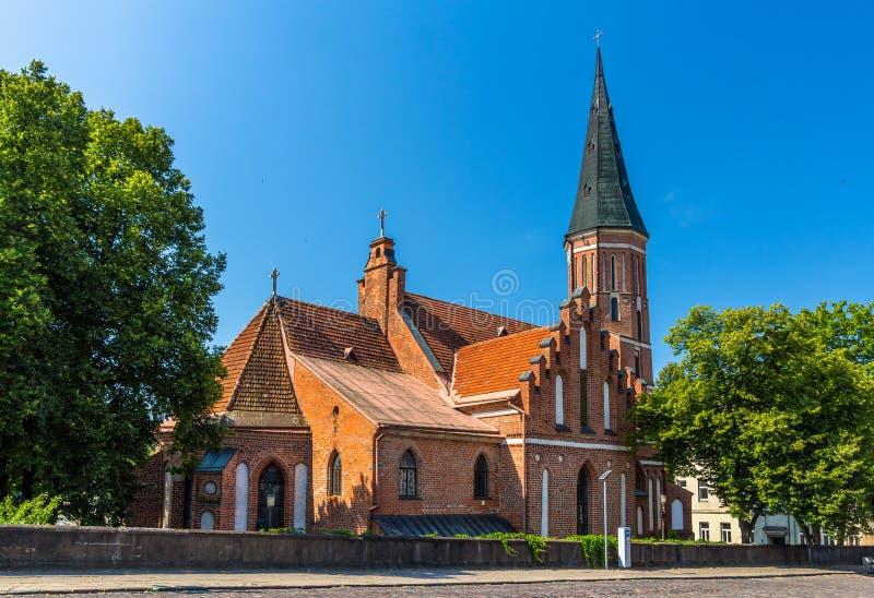 Igreja de Vytautas a grande em Kaunas fotos de stock