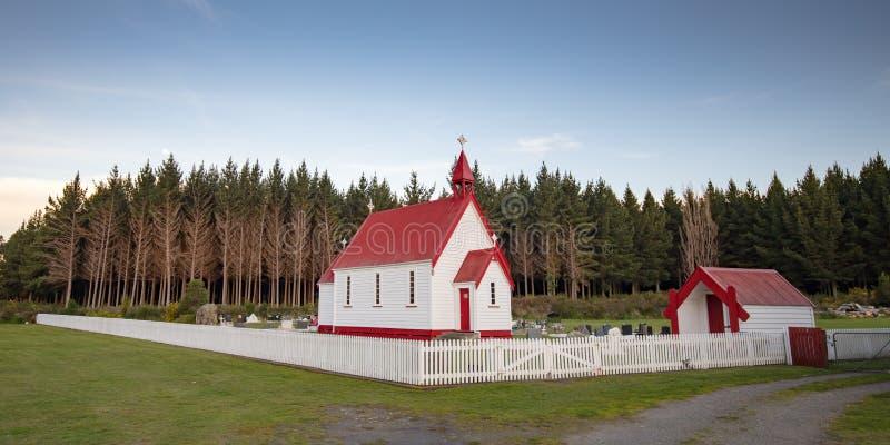 Igreja de Waitetoko em Waitetoko Marae foto de stock