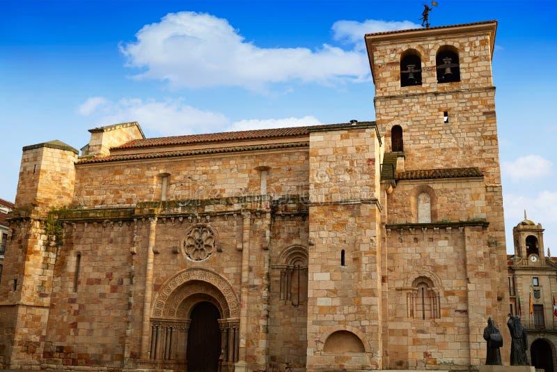 Igreja de Zamora San Juan no prefeito Spain da plaza imagem de stock