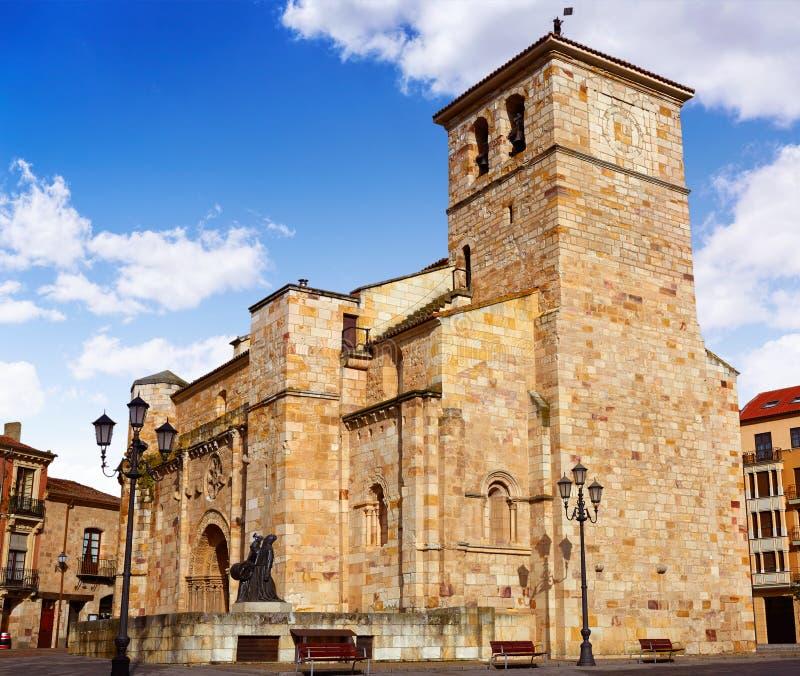Igreja de Zamora San Juan no prefeito Spain da plaza fotografia de stock