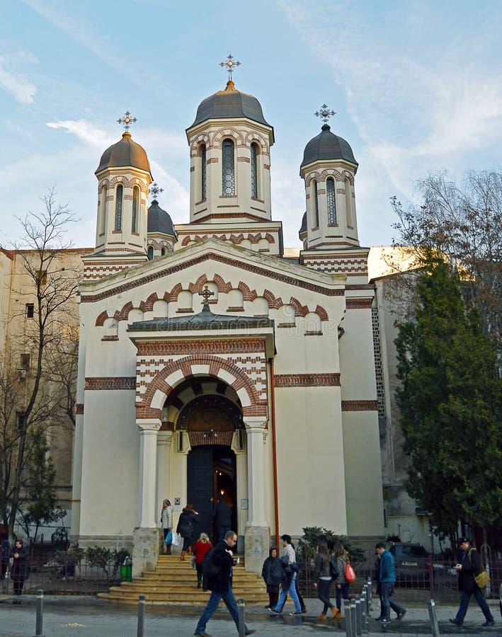 Igreja de Zlatari (a igreja) - Bucareste dos ourives, Romênia fotos de stock