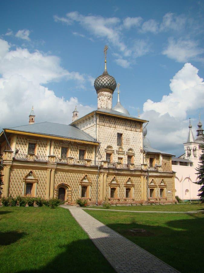A igreja dentro do Kremlin em Rostov Veliky fotos de stock